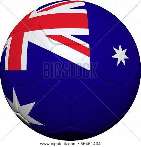 Australian Flag With Soccer Ball