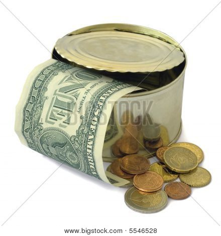 Dollars And Euro Coins