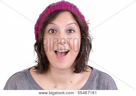 Woman Reacting In Delight And Pleasure