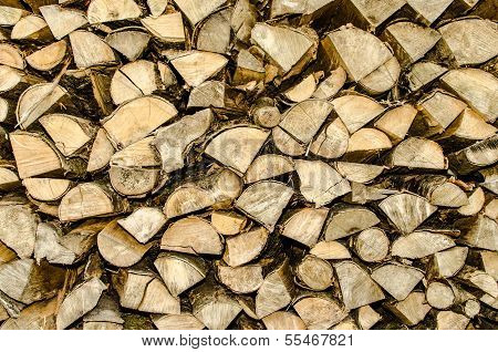 gesägtem Holz gestapelt perfekt als backround