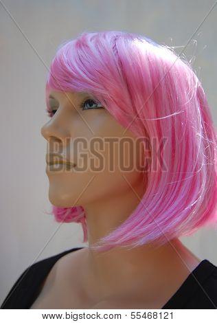 Pink Hair Mannequin