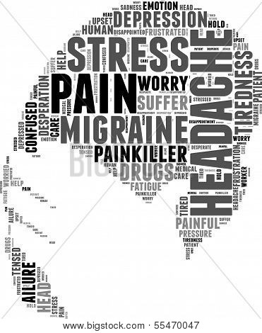headache  tag cloud