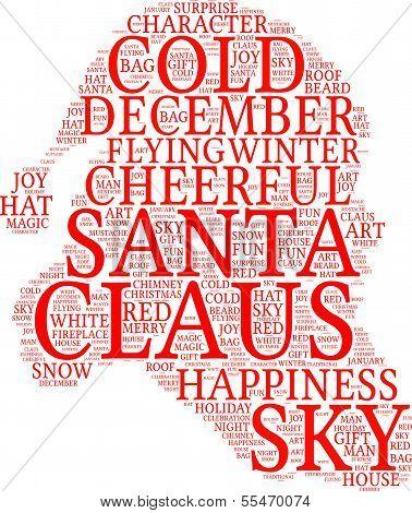 Santa Claus tagcloud