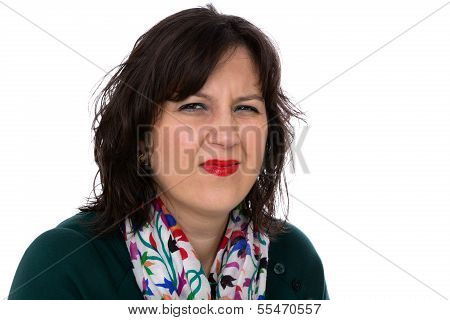 Young Woman Looking At You With Disgust And Irritated