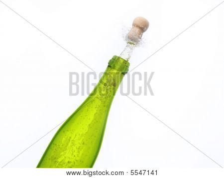 Exploding Bottle Of Champagne