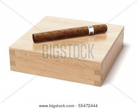 cigar and humidor