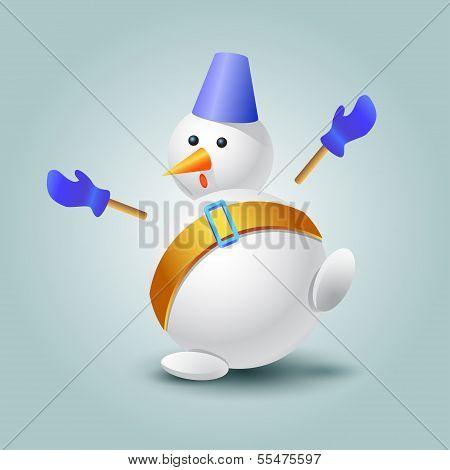 Very surprised snowman