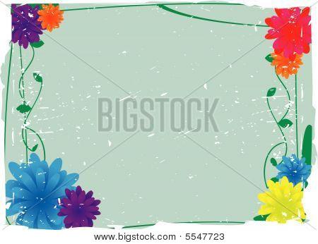 Flowery Grunge Vector Background
