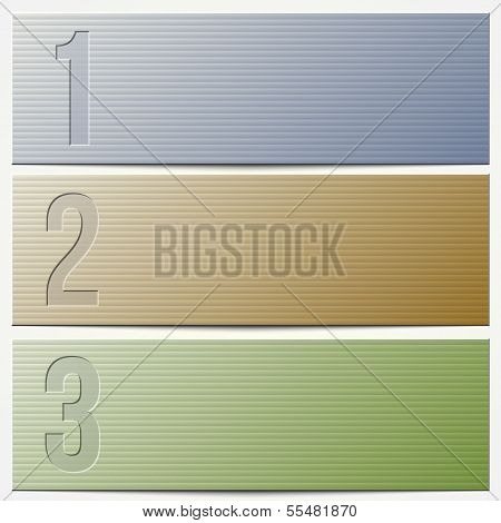 Vector infographic enumerated modern presentation banner set