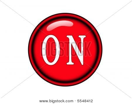 Red On Button