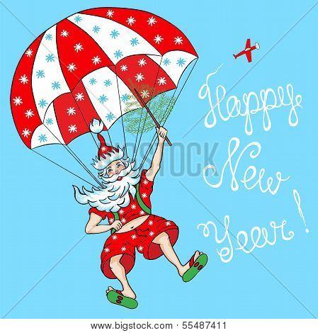 Santa Claus - Parachutist