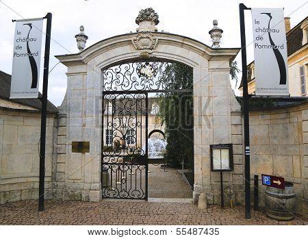 Entrance to Chateau de Pommard, France