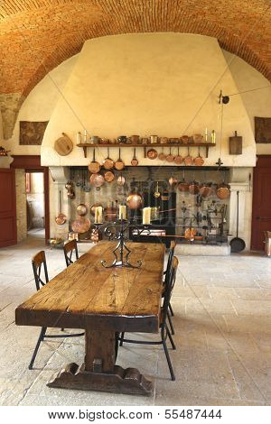 The Ancient Kitchen at Chateau de Pommard winery