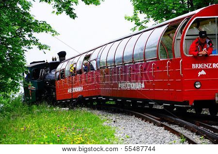 Steam narrow gauge train.