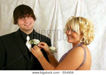 Pinning The Corsage