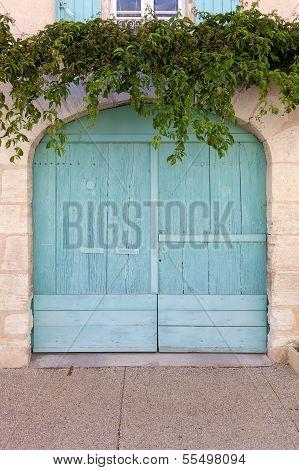 Beautiful Colored Garage Door