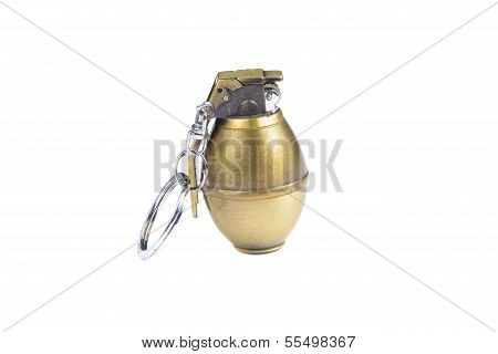 Cigarette Lighter In Shape Of Hand Grenade