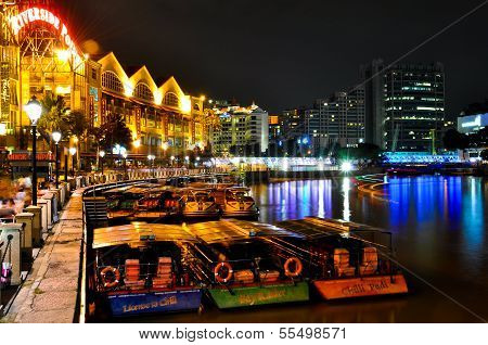 Singapore Clarke Quay by Night