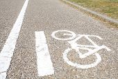 stock photo of pubic  - Bicycle sign - JPG
