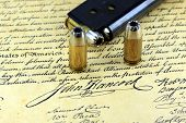 foto of bill-of-rights  - Ammunition on US Constitution John Hancock - JPG