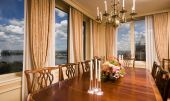 Penthouse Dining Room With View New York City poster