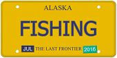 Fishing Alaska License Plate