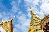 image of cho-cho  - Golden Pagoda at Wat Phra That Cho Hae  - JPG