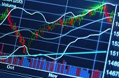 stock photo of peek  - close up photograph of stock market chart - JPG