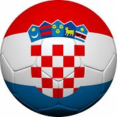 Croatian Flag With Soccer Ball