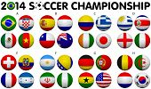 foto of flags world  - Soccer Championship 2014 - JPG