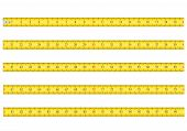 image of measurement  - measuring tape for tool roulette vector illustration isolated on white background - JPG