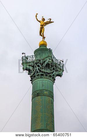 Paris, France. Monument at the Bastille (July Column)