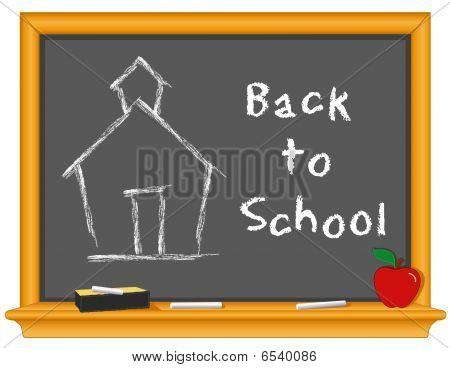 Vuelta a la pizarra de la escuela