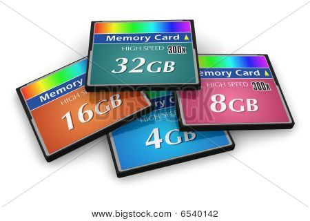 Satz von Compactflash-Speicherkarten