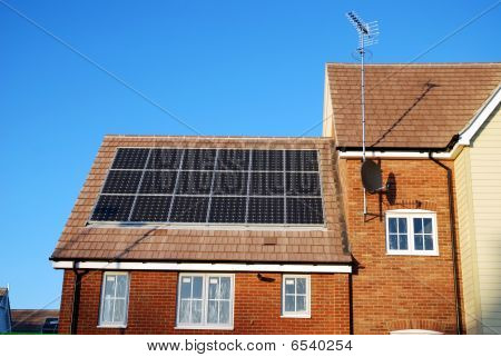 New build house with solar panels