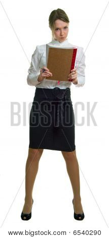 Anger Young Girl With Book