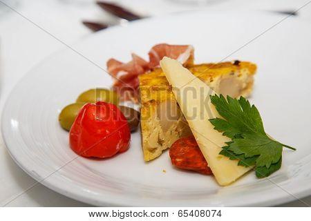 Quiche And Antipasto