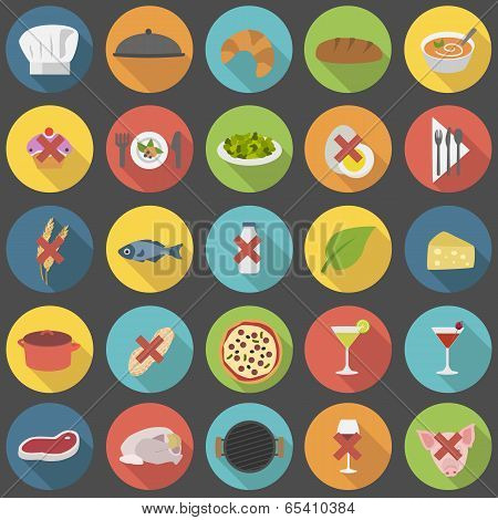 Chef's flat icon set