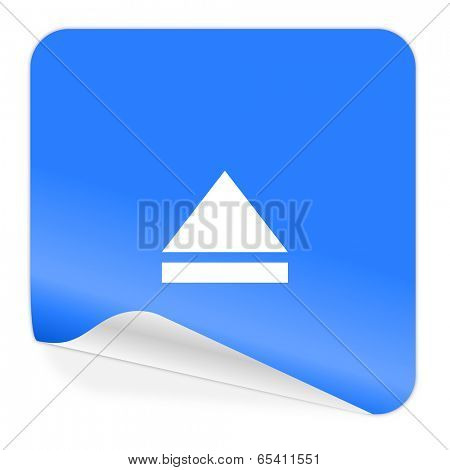 eject blue sticker icon