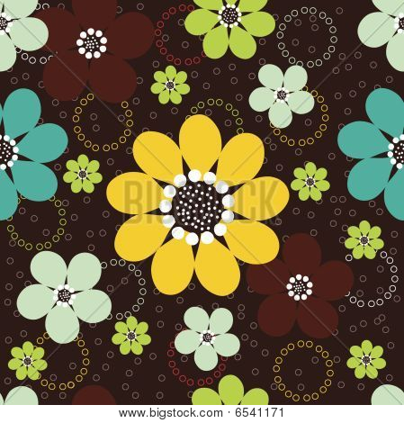 Daisies Seamless Background