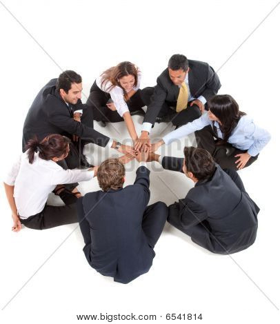 Businessgroup With Hands Together