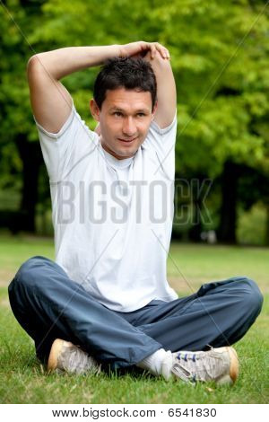 Man Doing Stretching