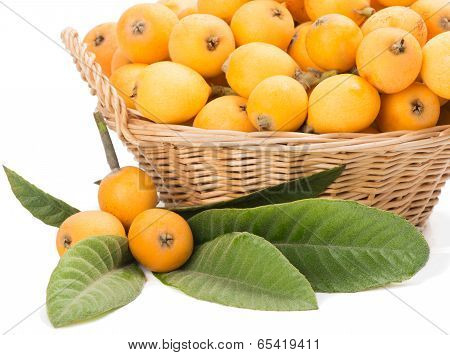 Wicker Baskets With Loquats
