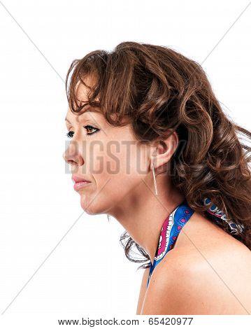 Side Profile Pretty Brunette