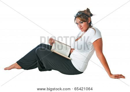 Pretty Young Woman Reading