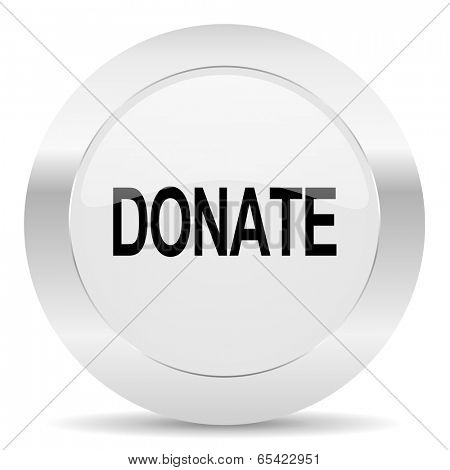 donate silver glossy web icon