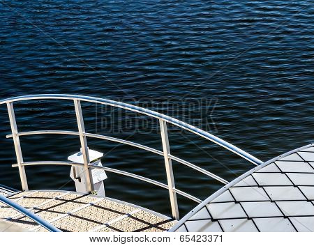 Pontoon in boat harbor