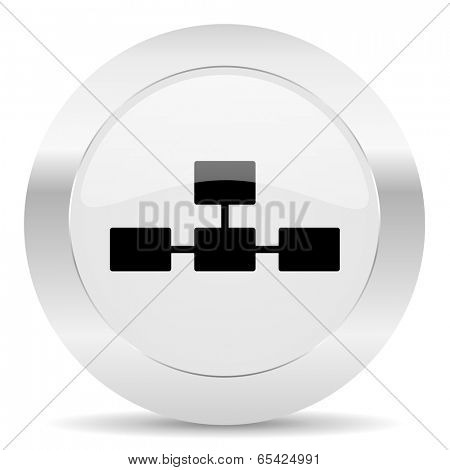 database silver glossy web icon