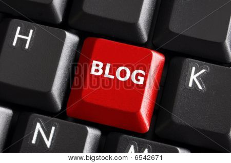 Red Blog Button
