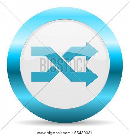 aleatory blue glossy icon